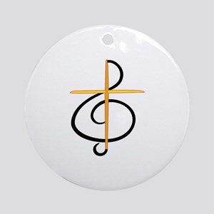 Church Musician Ornament (Round)
