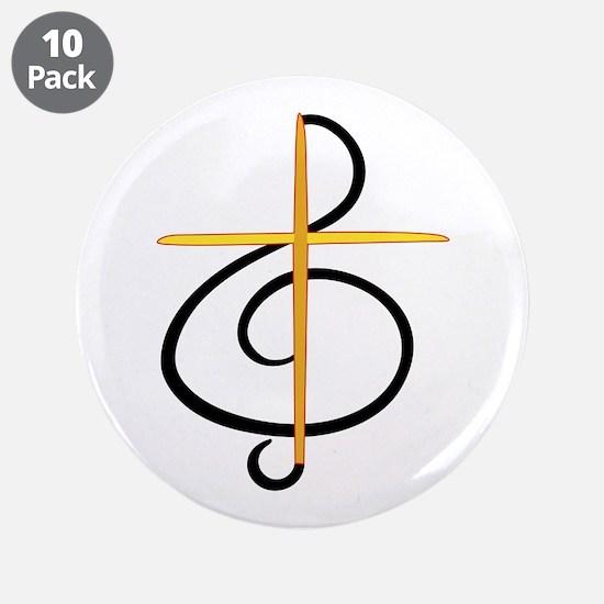 "Church Musician 3.5"" Button (10 pack)"