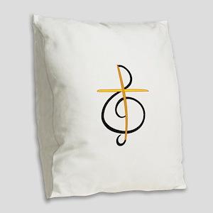 Church Musician Burlap Throw Pillow