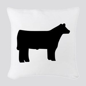 Steer Woven Throw Pillow