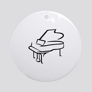 Grand Piano Ornament (Round)