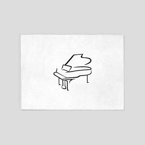 Grand Piano 5'x7'Area Rug
