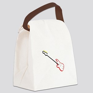 Electric Bass Guitar Canvas Lunch Bag