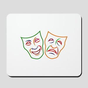Comedy Tragedy Masks Mousepad
