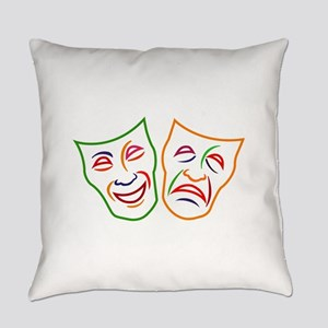 Comedy Tragedy Masks Everyday Pillow