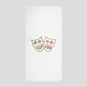 Comedy Tragedy Masks Beach Towel