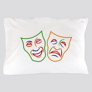Comedy Tragedy Masks Pillow Case