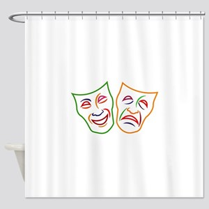 Comedy Tragedy Masks Shower Curtain