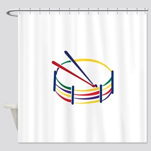 Snare Drum Shower Curtain