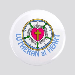 Lutheran At Heart Button
