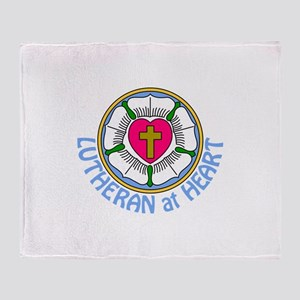 Lutheran At Heart Throw Blanket