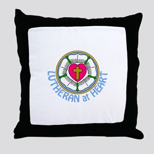 Lutheran At Heart Throw Pillow