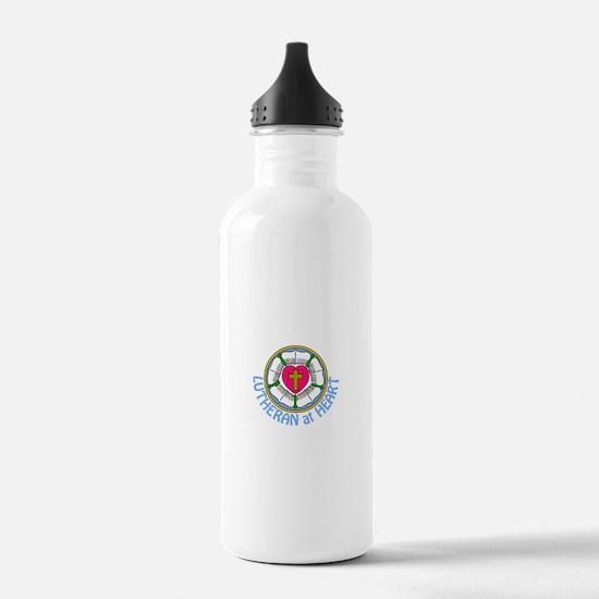 Lutheran At Heart Water Bottle
