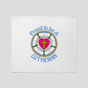 Proud Lutheran Throw Blanket