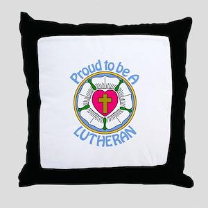 Proud Lutheran Throw Pillow