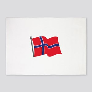 Norwegian Flag 5'x7'Area Rug