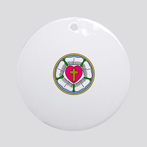 Lutheran Rose Ornament (Round)