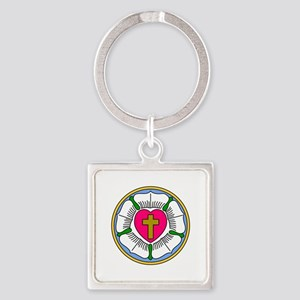 Lutheran Rose Keychains