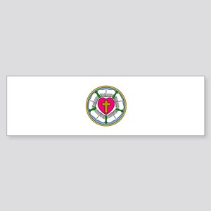 Lutheran Rose Bumper Sticker