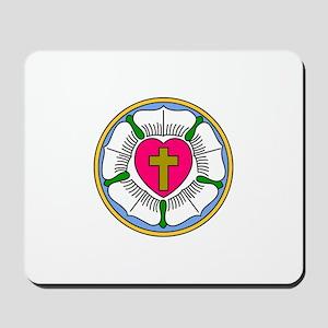 Lutheran Rose Mousepad