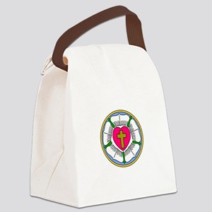 Lutheran Rose Canvas Lunch Bag