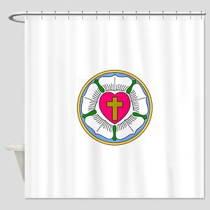 Lutheran Rose Shower Curtain