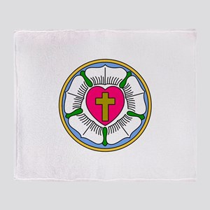 Lutheran Rose Throw Blanket