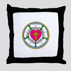 Lutheran Rose Throw Pillow