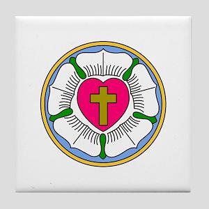 Lutheran Rose Tile Coaster