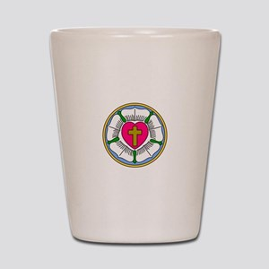 Lutheran Rose Shot Glass