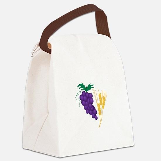 Communion Symbol Canvas Lunch Bag
