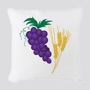Communion Symbol Woven Throw Pillow