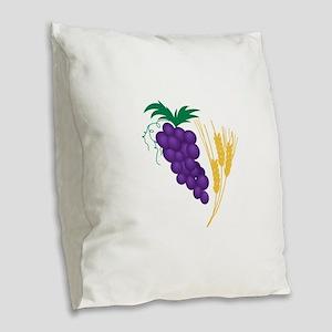 Communion Symbol Burlap Throw Pillow