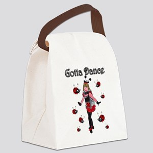 Ladybugs Gotta Dance Canvas Lunch Bag