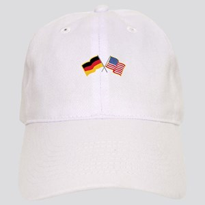 German American Flags Baseball Cap