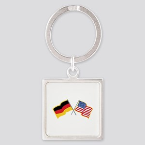 German American Flags Keychains