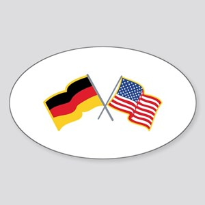 German American Flags Sticker