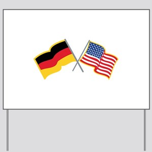 German American Flags Yard Sign
