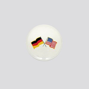 German American Flags Mini Button