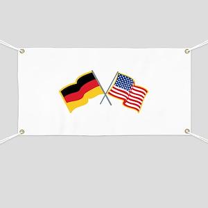 German American Flags Banner