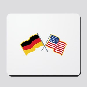 German American Flags Mousepad