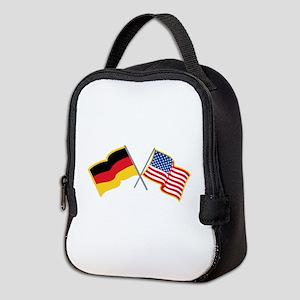 German American Flags Neoprene Lunch Bag