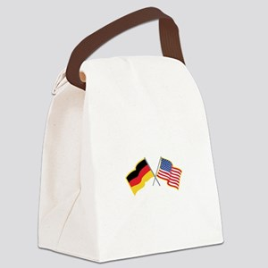 German American Flags Canvas Lunch Bag