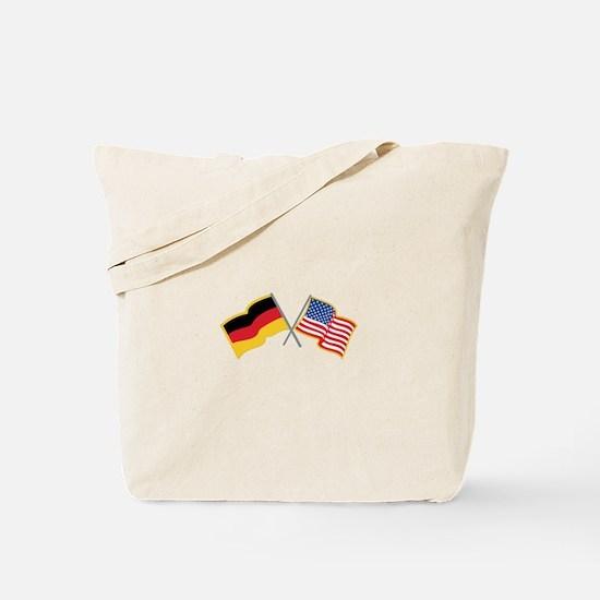 German American Flags Tote Bag
