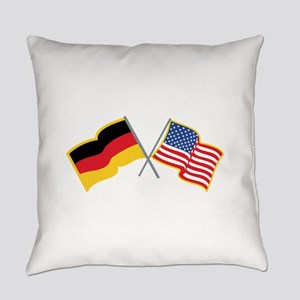 German American Flags Everyday Pillow