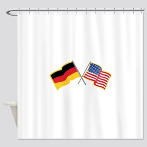 German American Flags Shower Curtain