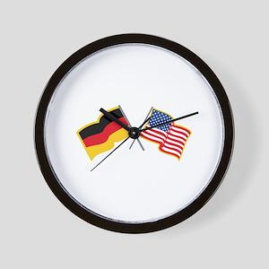 German American Flags Wall Clock