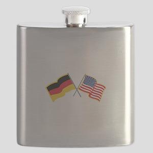 German American Flags Flask