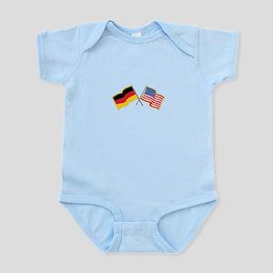 German American Flags Body Suit