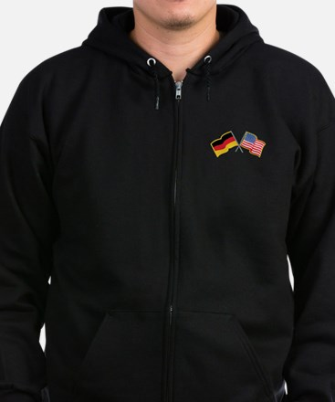 German American Flags Zip Hoody